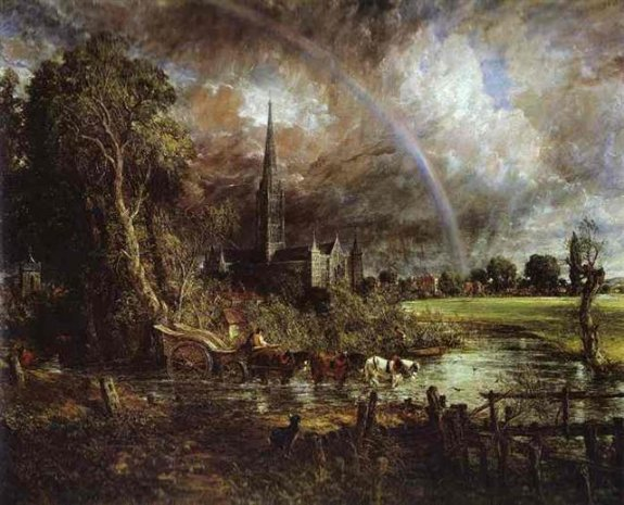 1829_Salisbury Cathedral, from the Meadows